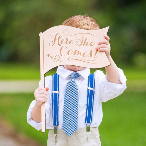 """Here She Comes"" Ringer Bearer Sign"