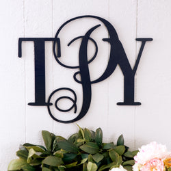 "16"" Monogram for Wall - Wedding and Gifts"