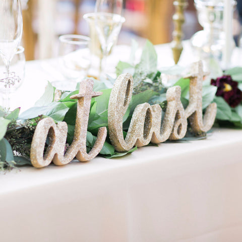 wedding sign for sweetheart table centerpiece