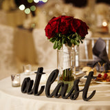 """at last"" Wedding Sign"