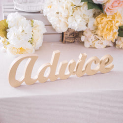 """Advice"" Table Sign for Wedding"