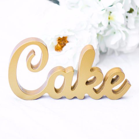 """Cake"" Sign for Wedding - Wedding and Gifts"