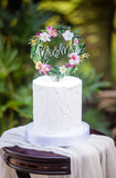 Tropical Wedding Cake Topper