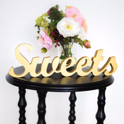 """Sweets"" Table Sign for Wedding - Wedding and Gifts"