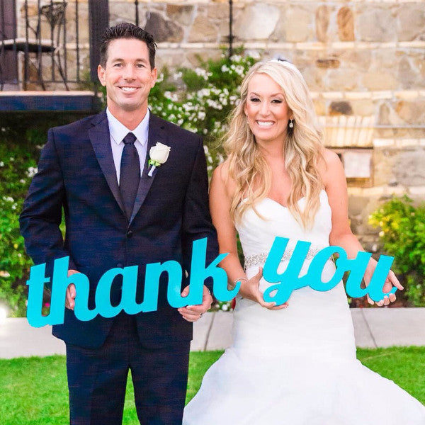 Thank You Wedding Sign Photography and Gifts