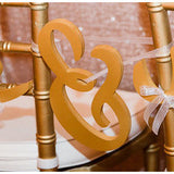 Wooden Ampersand Chair Sign for Sweetheart Table