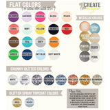 color choices for wedding chair signs