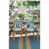 mr and mrs signs, wooden chair decor, wedding decor
