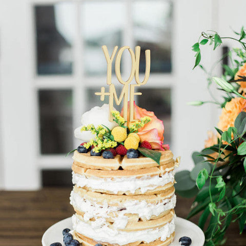 Wedding Cake Topper YOU + ME