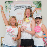 Flamingo Bachelorette Bridal Party Tops
