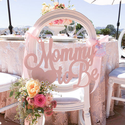 "Baby Shower Chair Sign ""Mommy to Be"""