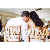 mr and mrs sign, wedding chairs, reception decor