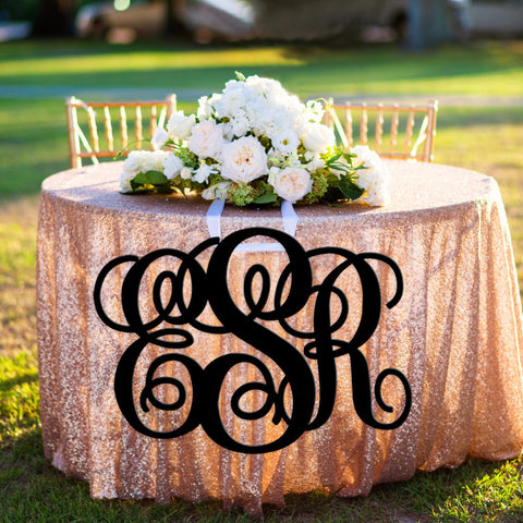 Extra Large Script Monogram for Wall - Wedding and Gifts
