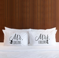 Personalized Minimalist Pillowcases