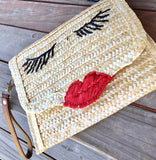 Lashes Straw Clutch