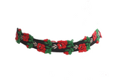 Embroidered Rose Choker