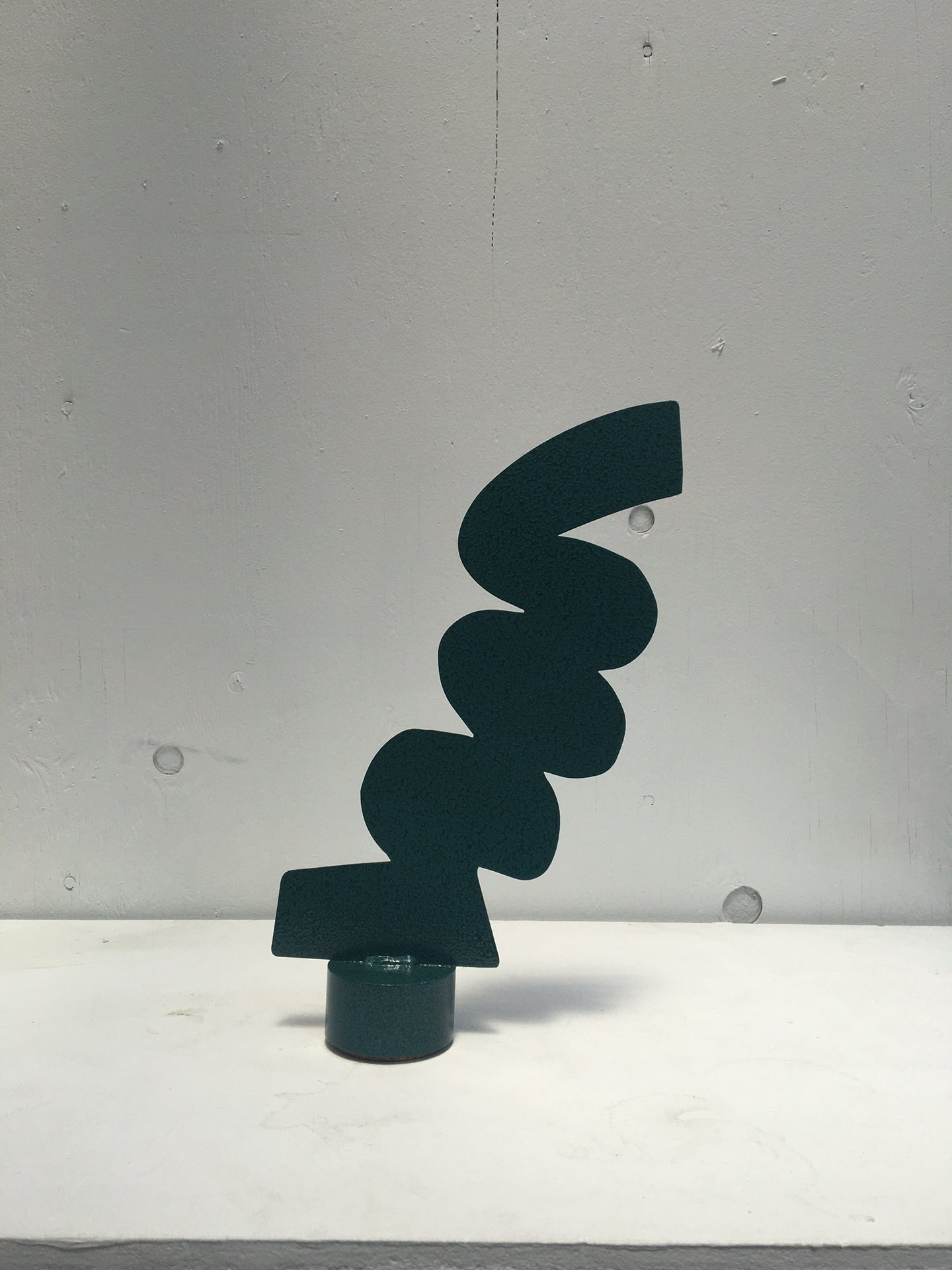 Green Squiggle Table Sculpture