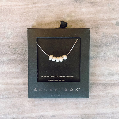 Secret Box Pearl Pendant Necklace