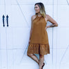 Bon Voyage Midi Dress-CAMEL