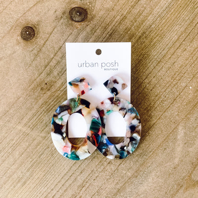Speckled Speck Earring