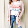 Any Season Cardigan-BLUSH