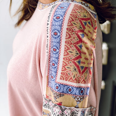 Malia Patchwork Top