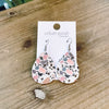Terrazzo Leather Tear Drop Earring