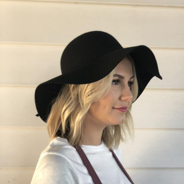 Floppy Wide Brim Wool Hat