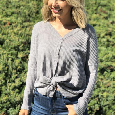 Soft Knit Thermal Button-Down