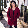 Warm Fuzzies Cardigan-Burgundy
