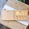 Champagne Gold Cheese Knives - Boxed Knife Set