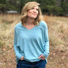 Perfect Fit V-Neck Sweater - Sky Blue
