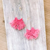 Fruity Fun Macrame Drop Earrings