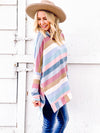 Candyland Cowl Neck Poncho