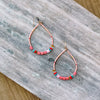 Happy Chica Beaded Drop Earring-CORAL