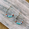 Happy Chica Beaded Drop Earring-TURQUOISE