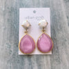 Pink Crystal and Pearl Earrings