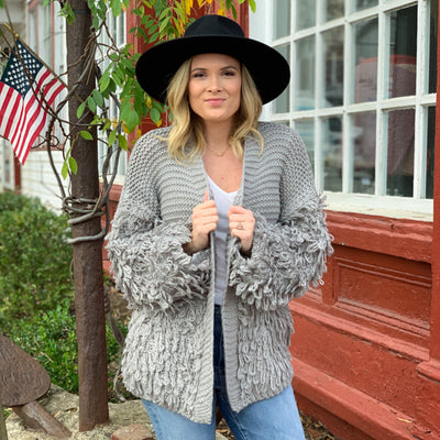 Shaggy Chic Cardigan