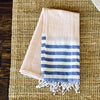 Montauk Summer Beach Towel - Taupe/Navy