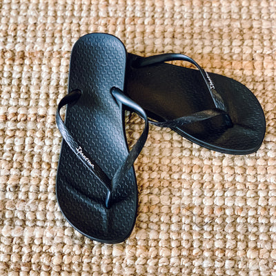 ANA TAN Flip Flop - BLACK