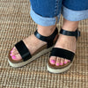 Cabo Wedge Sandal-BLK