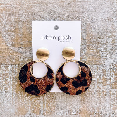 Leaping Leopard Earrings