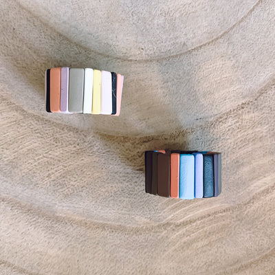 Colorblock Adjustable Ring