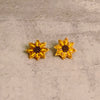 Dorothy Sunflower Beaded Earring