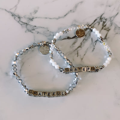 Little Words Project Bracelet-Silver Blocks
