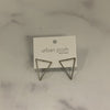 Isosceles Silver Triangle Earrings