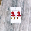 Sydney M  Earrings RUST #5