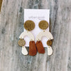 Sydney M Earrings BROWN #8