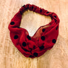 Velvet Dot Knotted Headband