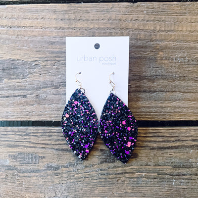 Marquise Glitter Drop Earrings
